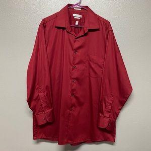 Van Heusen Lux Sateen Reg Fit Button Down Shirt